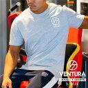 Tシャツ VENTURA 529 トレーニングウェア メンズ レディース 半袖 白 グレー ウェア トップス カジュアル ストリート トレーニング 大きいサイズ ロゴ 刺繍 シンプル 半袖 スポーツ アウトドア アスレジャー