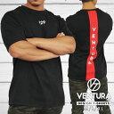 Tシャツ VENTURA 529 トレーニングウェア メンズ レディース 半袖 白 グレー ブラック 黒 ウェア トップス カジュアル ストリート トレーニング 大きいサイズ ロゴ 刺繍 シンプル 半袖 スポーツ アウトドア アスレジャー