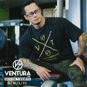 Tシャツ VENTURA 529 トレーニングウェア メンズ レディース 半袖 黒 ブラック ウェア トップス カジュアル ストリート トレーニング 大きいサイズ ロゴ 刺繍 シンプル 半袖 スポーツ アウトドア アスレジャー