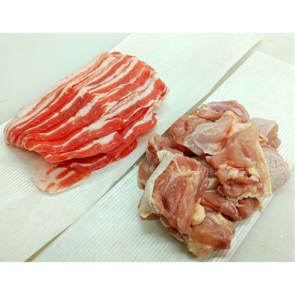 【鶏もも豚バラセット】国産あべどり調理用カットスライスから揚げ用時短