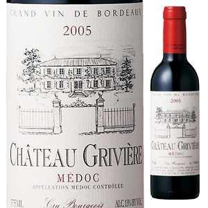 【6本〜送料無料】 [375ml]シャトー グリヴィエール 2008 [ハーフボトル][赤]Chateau Griviere Chateau Griviere