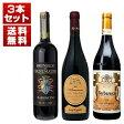 【送料無料】イタリアの銘酒「アマローネ」「ブルネッロ」「バルバレスコ」を味わう贅沢な3本セット