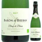 【6本〜送料無料】バロン ド ブルバン ブラン ド ブラン オーガニック NV レ ヴァン ブルバン 750ml [発泡白]Baron de Breban Blanc de Blancs Organic Les Vins Breban