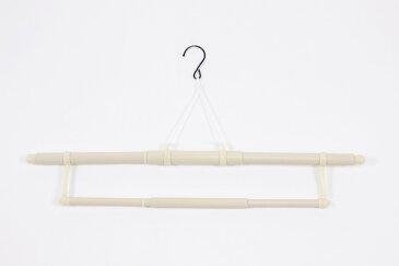 送料無料 きものハンガー (折りたたみ式&帯掛け付) 色おまかせ 長尺タイプ 伸縮 収納 着付け小物 着物 長襦袢 裄長 帯掛け付き メール便不可