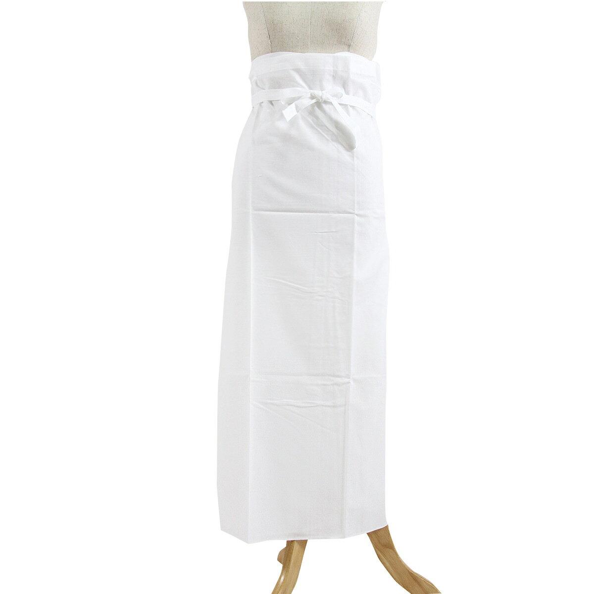 メール便送料無料 訳あり 日清紡謹製 女物 裾除け 白 M Lサイズ 綿100% すそよけ こしまき 着物 着付け 女性用 レディース 婦人物 和装下着 和装肌着 インナー 日本製 三ツ桃 さらし 1点メール便OK 送料込み