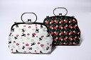 チェーン付きがま口バック(猫に梅 椿) ポーチ バッグ 日本製 和小物 和装小物 収納 和柄 おしゃれ かわいい 和風 ショルダーバック 浴衣から洗える