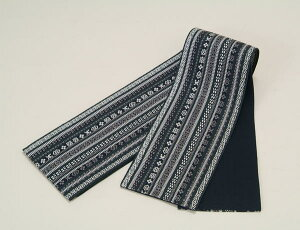 半巾帯(正絹)濃紺 着付け 着物 紬 小紋 洗える着物 浴衣 和装小物 メール便不可