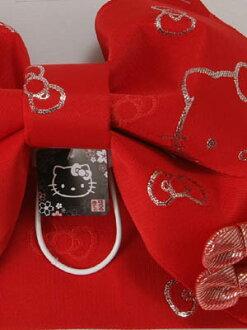 和服腰帶 Hello 凱蒂-紅色,絲帶光皮帶浴衣和服很容易孩子女童 Hello Kitty