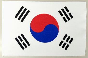 世界の国旗 ミニタオル・ハンドタオル 韓国国旗柄 大韓民国(素早い吸水・速乾のマイクロファイバー生地)ミニメガネ拭き・スマホ・タブレット・レンズクリーナークロス