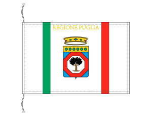 イタリア・州旗 プッリャ州(卓上旗16×24cm・高級テトロン製・日本製)