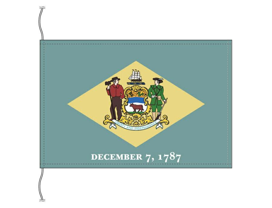 デラウェア州旗・卓上旗[アメリカ合衆国の州旗・16×24cm・高級テトロン製]