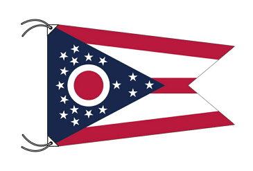 オハイオ州旗・卓上旗[アメリカ合衆国の州旗・16×24cm・高級テトロン製]