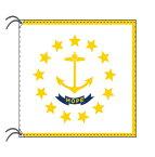 ロードアイランド州旗[アメリカ合衆国の州旗・100×150cm・高級テトロン製]