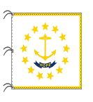 ロードアイランド州旗[アメリカ合衆国の州旗・140×210cm・高級テトロン製]