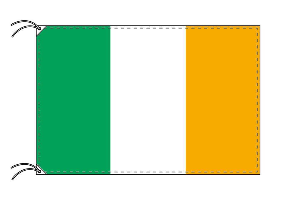 【レンタル】 3泊4日レンタル旗 アイルランド国旗・付属品セット[90×135cm国旗・3mポール・扁平玉・スタンド・高級テトロン製]安心の日本製
