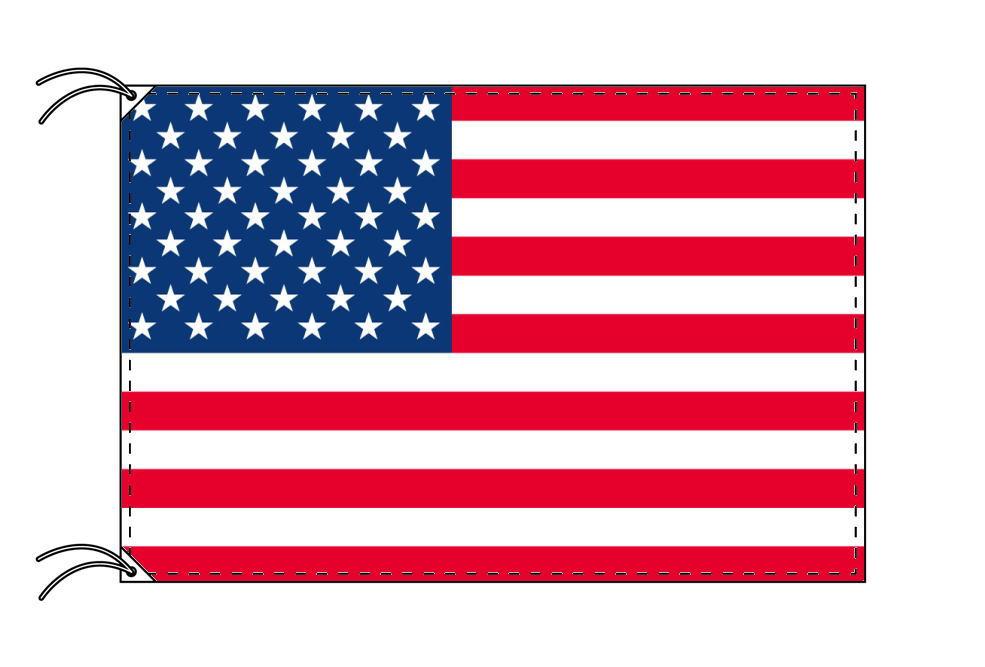 【レンタル】 3泊4日レンタル旗 アメリカ国旗(旗単品)[90×135cm国旗・高級テトロン製]安心の日本製