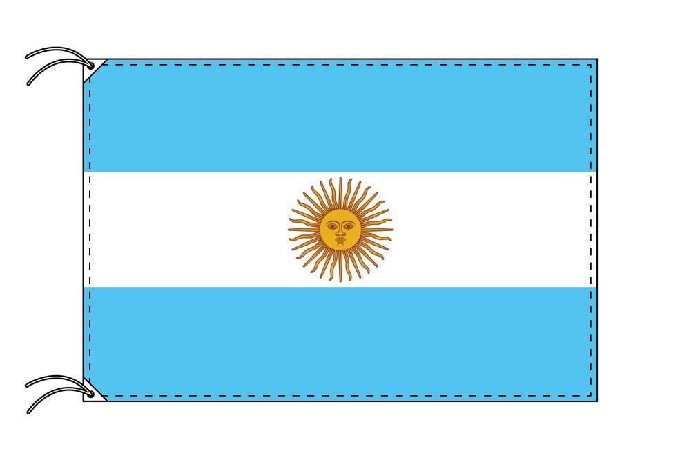 【レンタル】 3泊4日レンタル旗 アルゼンチン国旗(旗単品)[90×135cm国旗・高級テトロン製]安心の日本製