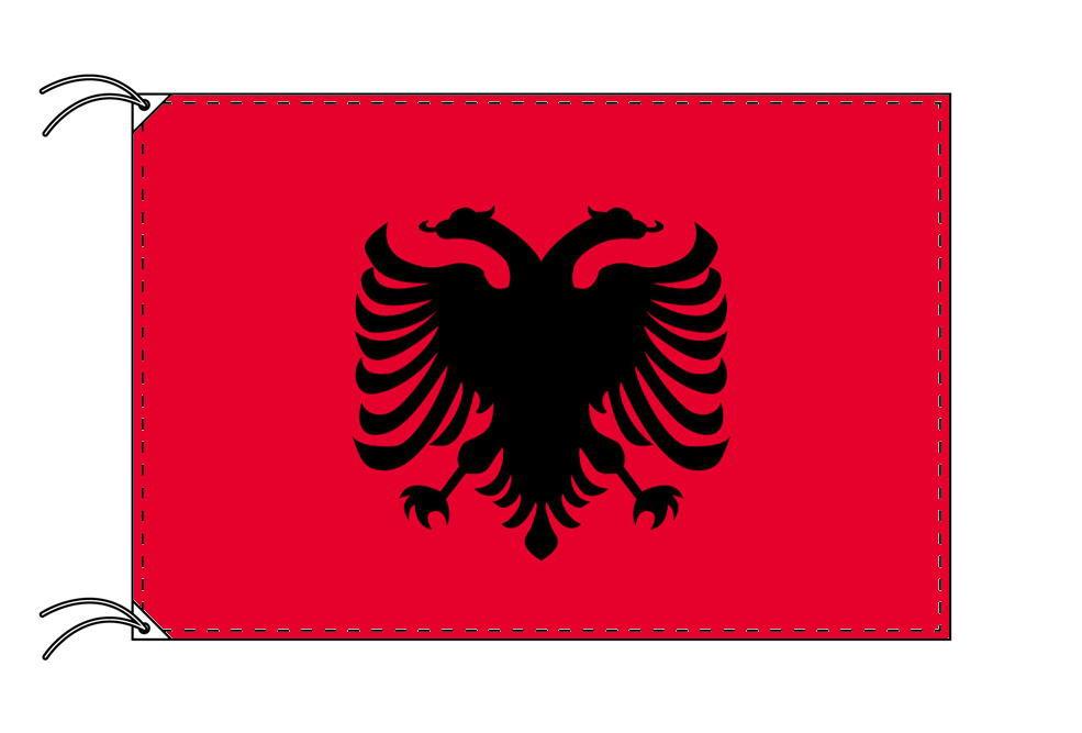 【レンタル】 3泊4日レンタル旗 アルバニア国旗・付属品セット[90×135cm国旗・3mポール・扁平玉・スタンド・高級テトロン製]安心の日本製