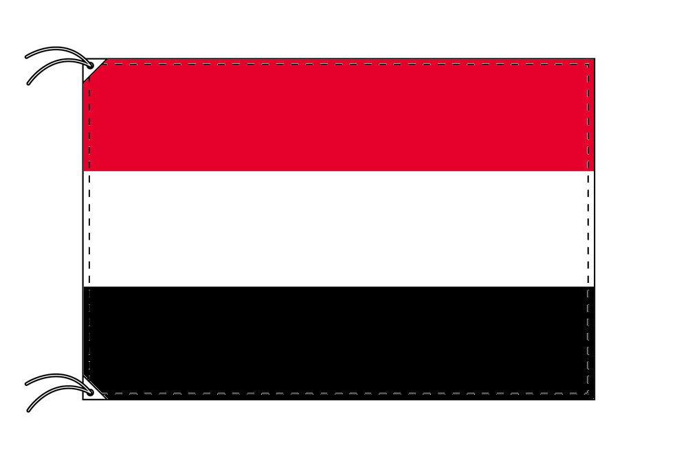 【レンタル】 3泊4日レンタル旗 イエメン国旗・付属品セット[90×135cm国旗・3mポール・扁平玉・スタンド・高級テトロン製]安心の日本製