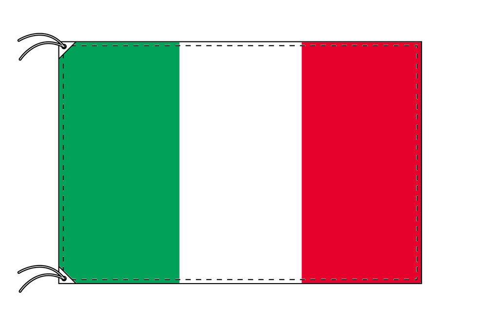 【レンタル】 3泊4日レンタル旗 イタリア国旗・付属品セット[90×135cm国旗・3mポール・扁平玉・スタンド・高級テトロン製]安心の日本製