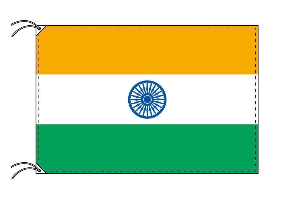 【レンタル】 3泊4日レンタル旗 インド国旗(旗単品)[90×135cm国旗・高級テトロン製]安心の日本製