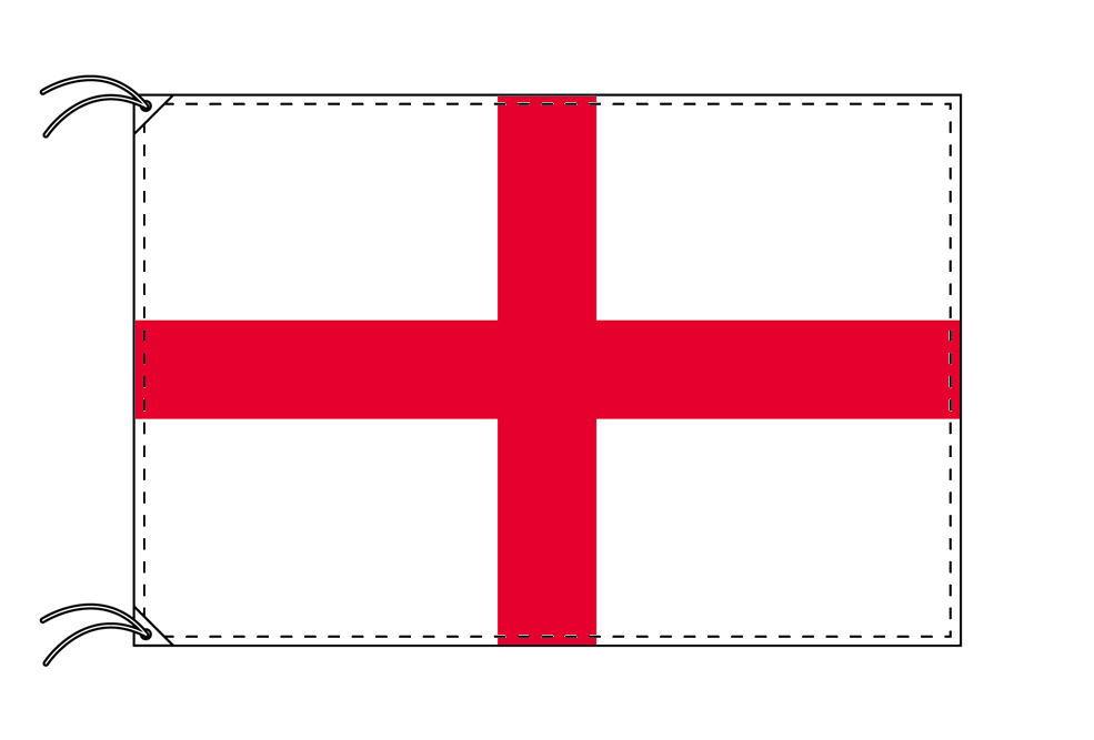 【レンタル】 3泊4日レンタル旗 イングランド国旗・付属品セット[90×135cm国旗・3mポール・扁平玉・スタンド・高級テトロン製]安心の日本製