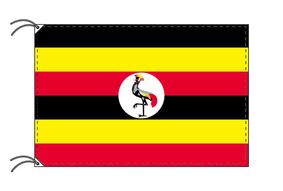 【レンタル】 3泊4日レンタル旗 ウガンダ国旗・付属品セット[90×135cm国旗・3mポール・扁平玉・スタンド・高級テトロン製]安心の日本製