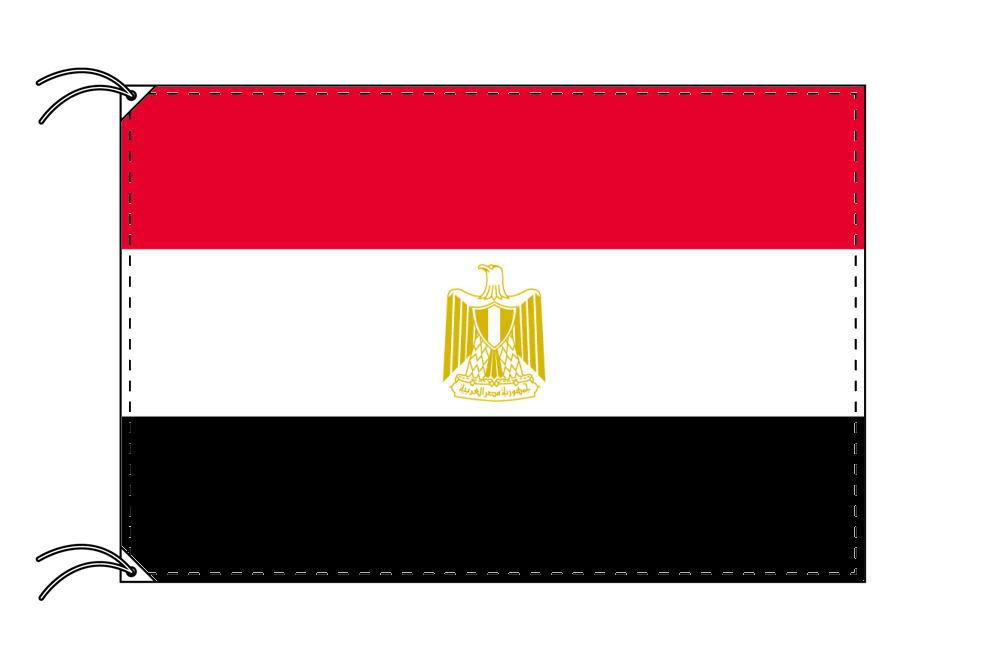 【レンタル】 3泊4日レンタル旗 エジプト国旗・付属品セット[90×135cm国旗・3mポール・扁平玉・スタンド・高級テトロン製]安心の日本製