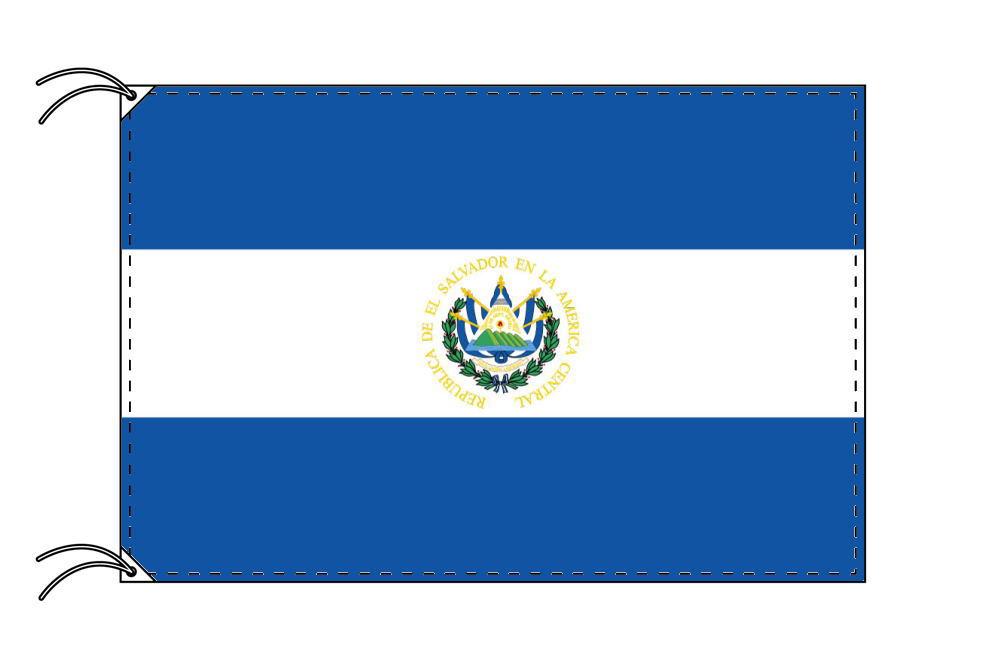 【レンタル】 3泊4日レンタル旗 エルサルバドル国旗(旗単品)[90×135cm国旗・高級テトロン製]安心の日本製