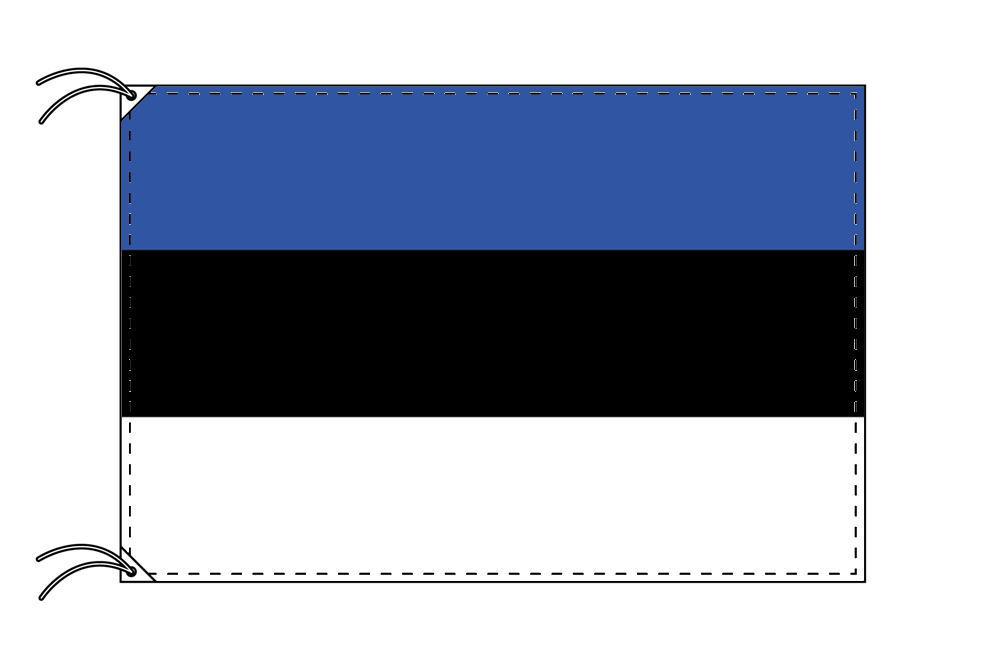 【レンタル】 3泊4日レンタル旗 エストニア国旗・付属品セット[90×135cm国旗・3mポール・扁平玉・スタンド・高級テトロン製]安心の日本製