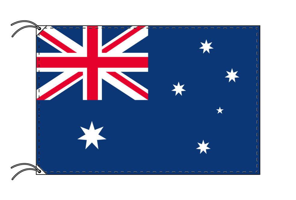 【レンタル】 3泊4日レンタル旗 オーストラリア国旗・付属品セット[90×135cm国旗・3mポール・扁平玉・スタンド・高級テトロン製]安心の日本製