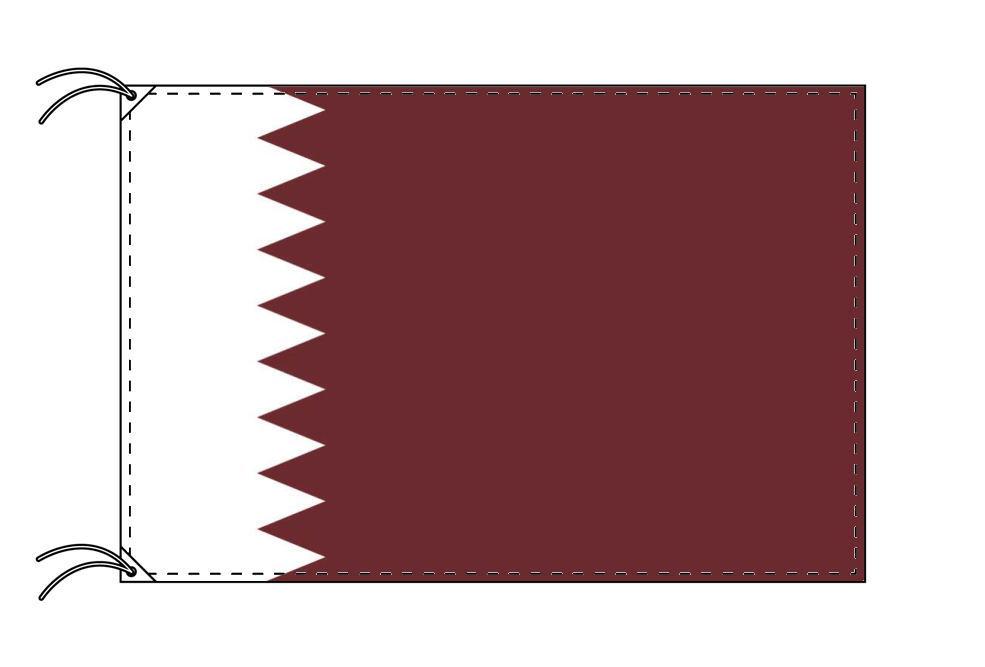 【レンタル】 3泊4日レンタル旗 カタール国旗・付属品セット[90×135cm国旗・3mポール・扁平玉・スタンド・高級テトロン製]安心の日本製