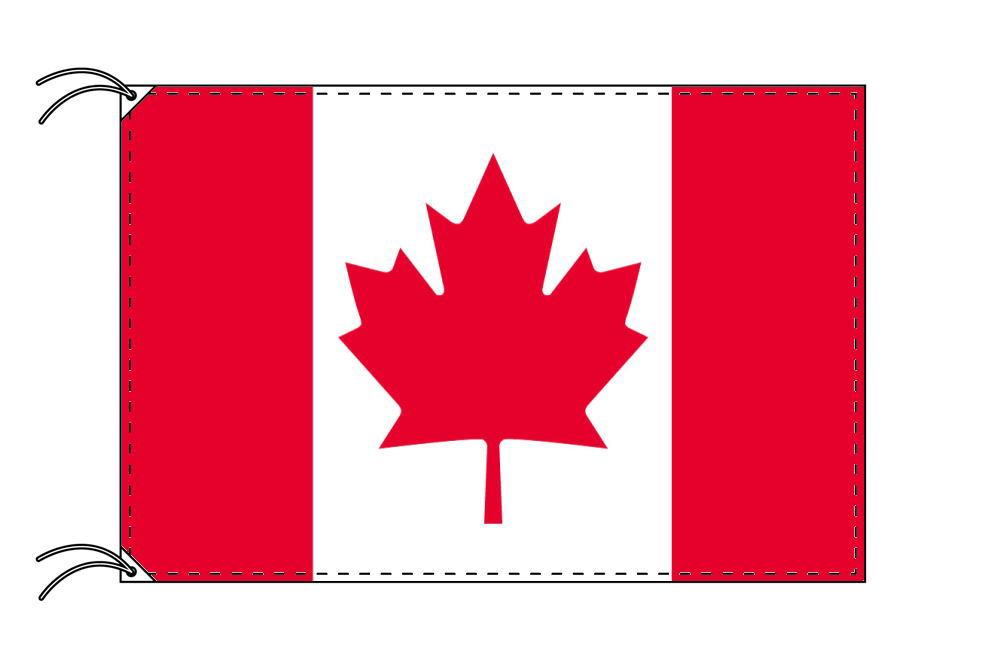 【レンタル】 3泊4日レンタル旗 カナダ国旗・付属品セット[90×135cm国旗・3mポール・扁平玉・スタンド・高級テトロン製]安心の日本製