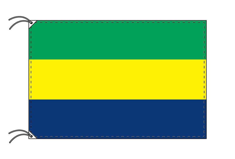 【レンタル】 3泊4日レンタル旗 ガボン国旗(旗単品)[90×135cm国旗・高級テトロン製]安心の日本製