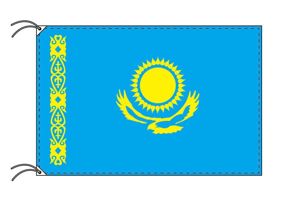 【レンタル】 3泊4日レンタル旗 カザフスタン国旗・付属品セット[90×135cm国旗・3mポール・扁平玉・スタンド・高級テトロン製]安心の日本製