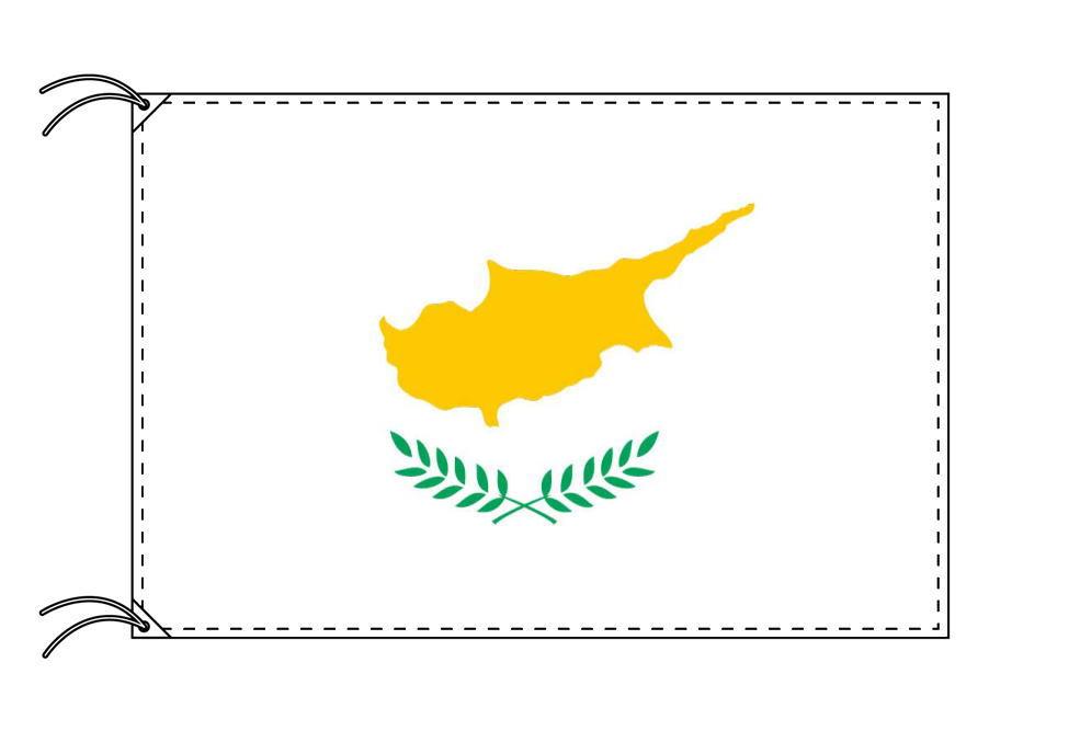 【レンタル】 3泊4日レンタル旗 キプロス国旗・付属品セット[90×135cm国旗・3mポール・扁平玉・スタンド・高級テトロン製]安心の日本製