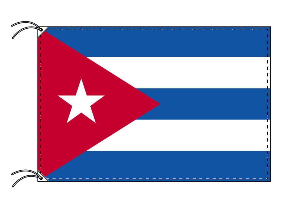 【レンタル】 3泊4日レンタル旗 キューバ国旗(旗単品)[90×135cm国旗・高級テトロン製]安心の日本製