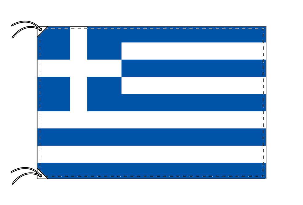【レンタル】 3泊4日レンタル旗 ギリシャ国旗・付属品セット[90×135cm国旗・3mポール・扁平玉・スタンド・高級テトロン製]安心の日本製