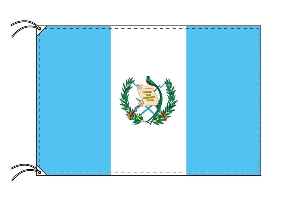 【レンタル】 3泊4日レンタル旗 グアテマラ国旗(旗単品)[90×135cm国旗・高級テトロン製]安心の日本製