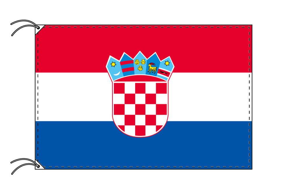 【レンタル】 3泊4日レンタル旗 クロアチア国旗・付属品セット[90×135cm国旗・3mポール・扁平玉・スタンド・高級テトロン製]安心の日本製