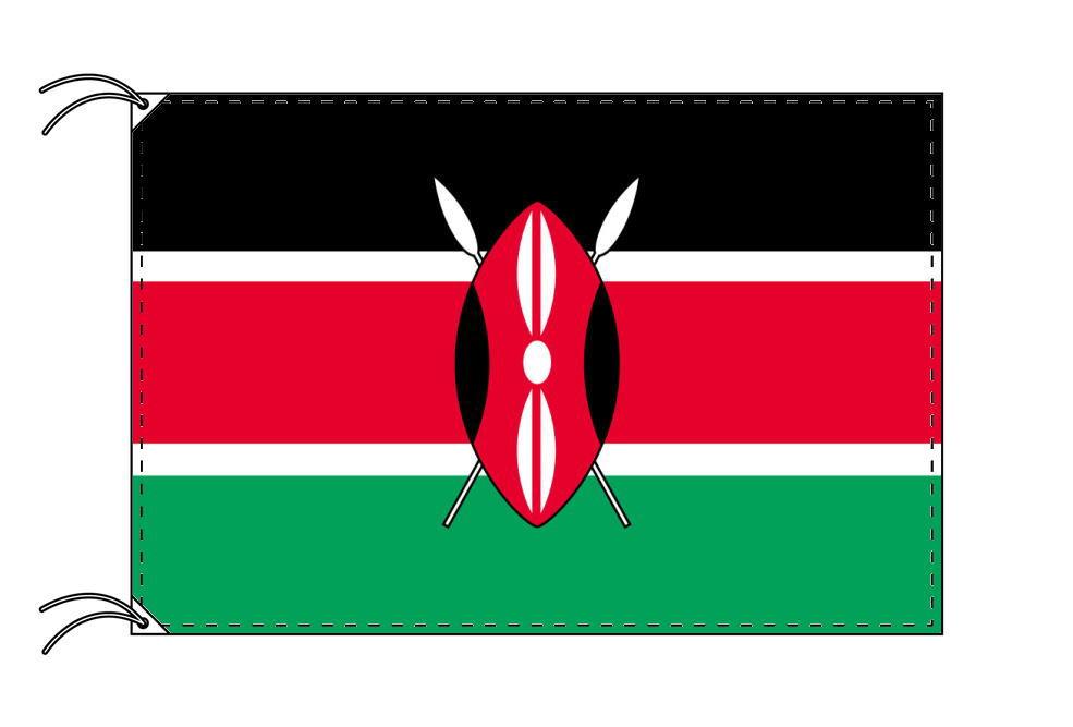 【レンタル】 3泊4日レンタル旗 ケニア国旗・付属品セット[90×135cm国旗・3mポール・扁平玉・スタンド・高級テトロン製]安心の日本製