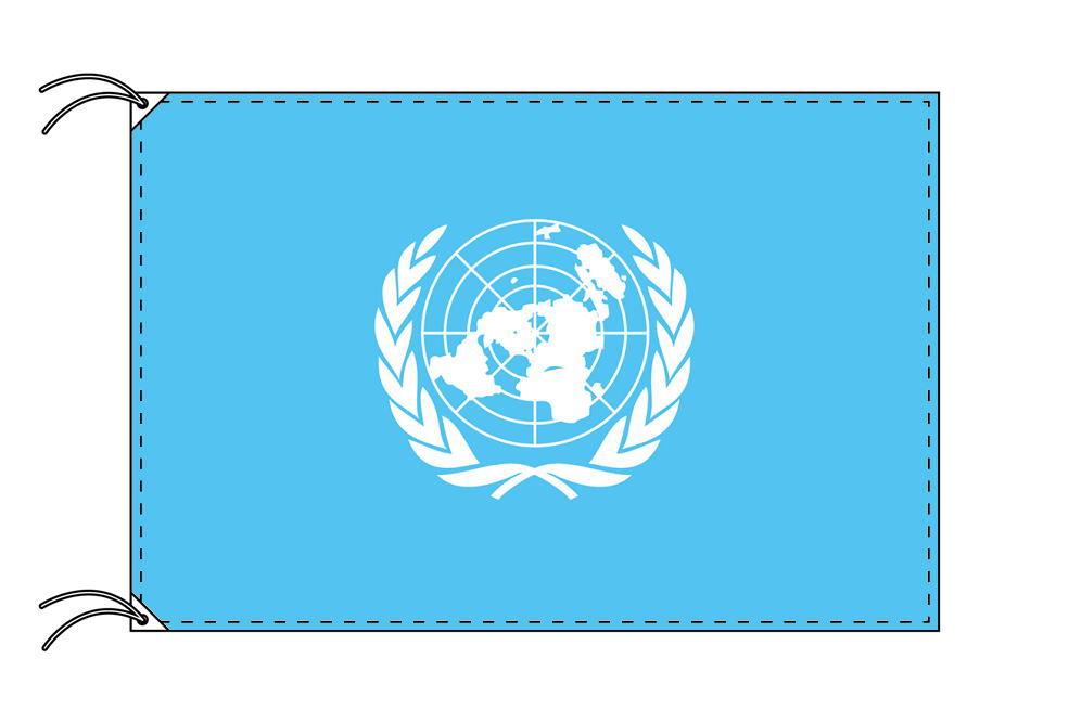 【レンタル】 3泊4日レンタル旗 国際連合[UN]旗(旗単品)[90×135cm国旗・高級テトロン製]安心の日本製