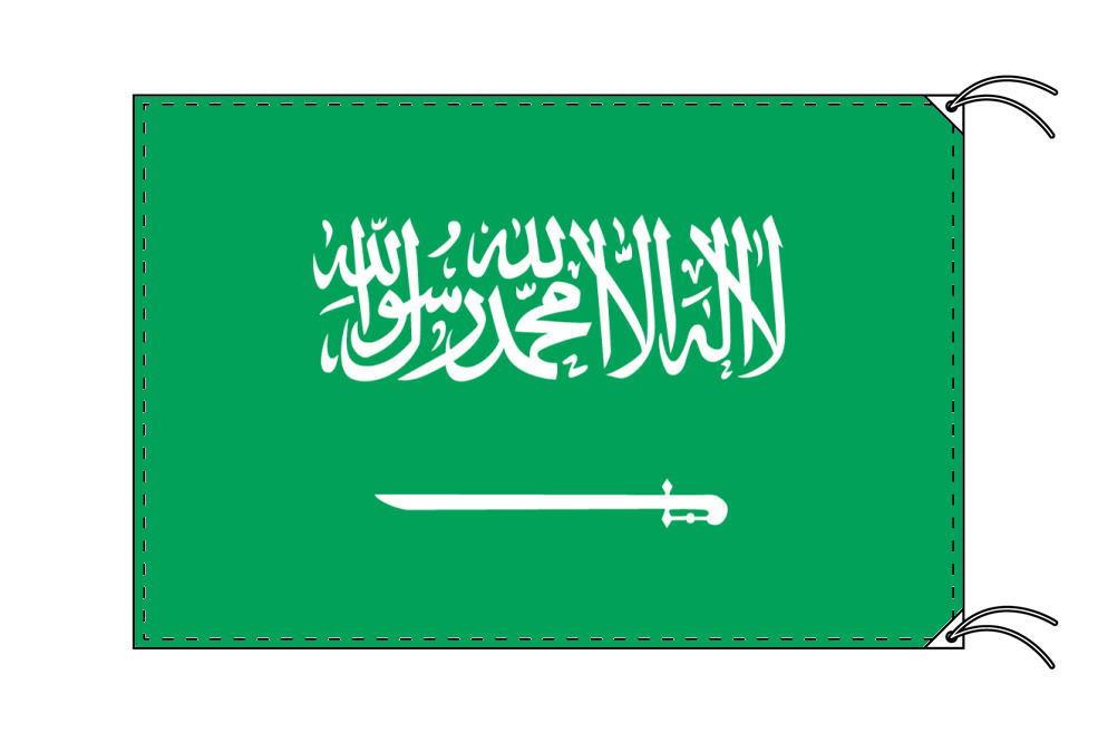 【レンタル】 3泊4日レンタル旗 サウジアラビア国旗(旗単品)[90×135cm国旗・高級テトロン製]安心の日本製