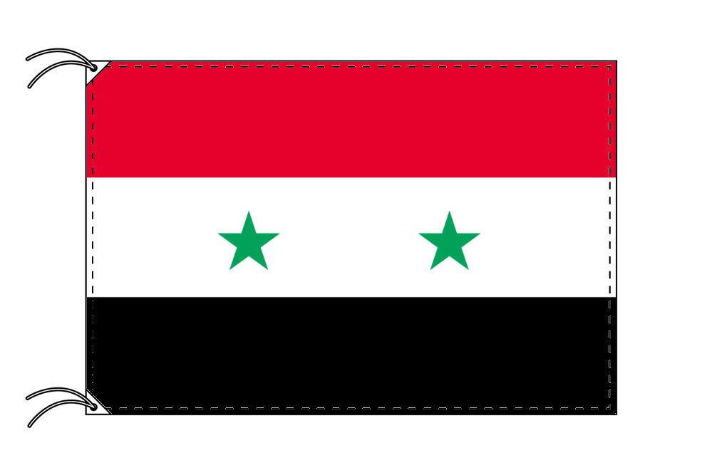 【レンタル】 3泊4日レンタル旗 シリア国旗(旗単品)[90×135cm国旗・高級テトロン製]安心の日本製