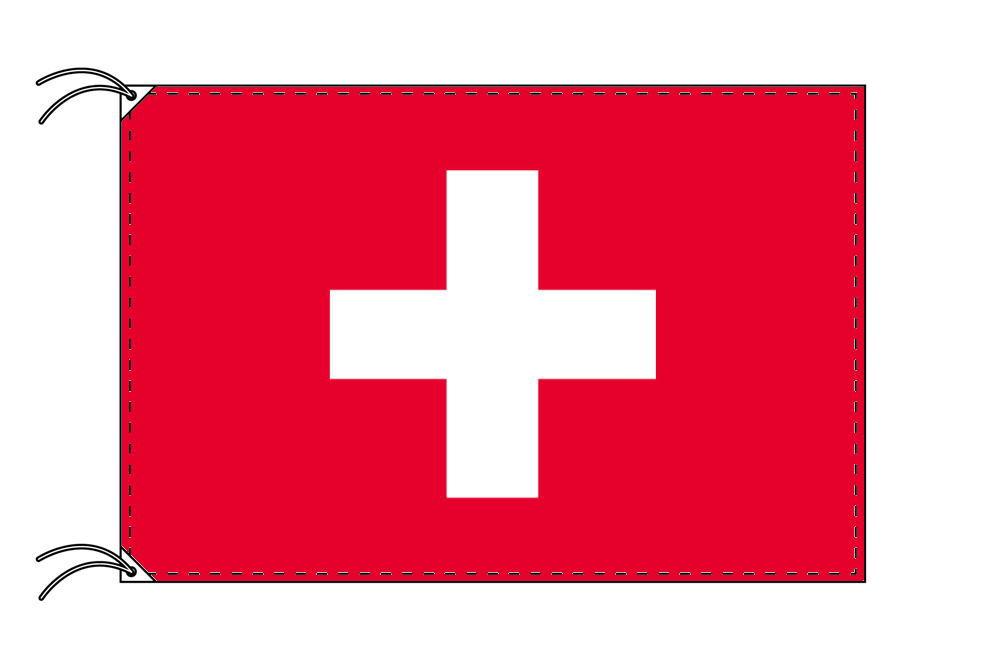 【レンタル】 3泊4日レンタル旗 スイス国旗・付属品セット[90×135cm国旗・3mポール・扁平玉・スタンド・高級テトロン製]安心の日本製