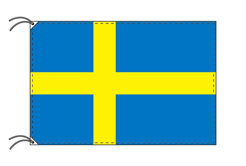 【レンタル】 3泊4日レンタル旗 スウェーデン国旗・付属品セット[90×135cm国旗・3mポール・扁平玉・スタンド・高級テトロン製]安心の日本製