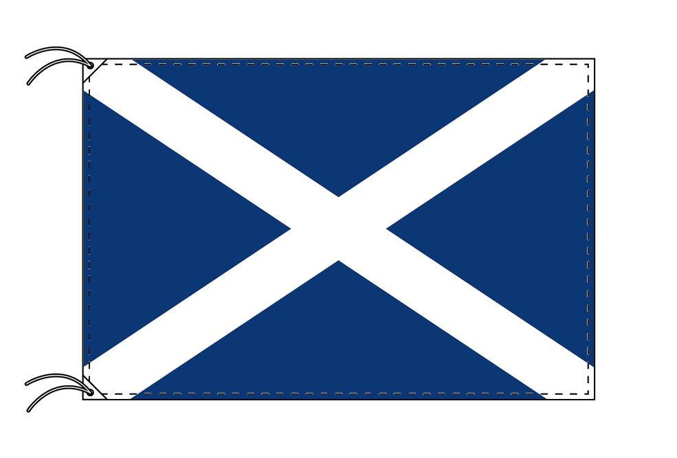 【レンタル】 3泊4日レンタル旗 スコットランド国旗・付属品セット[90×135cm国旗・3mポール・扁平玉・スタンド・高級テトロン製]安心の日本製