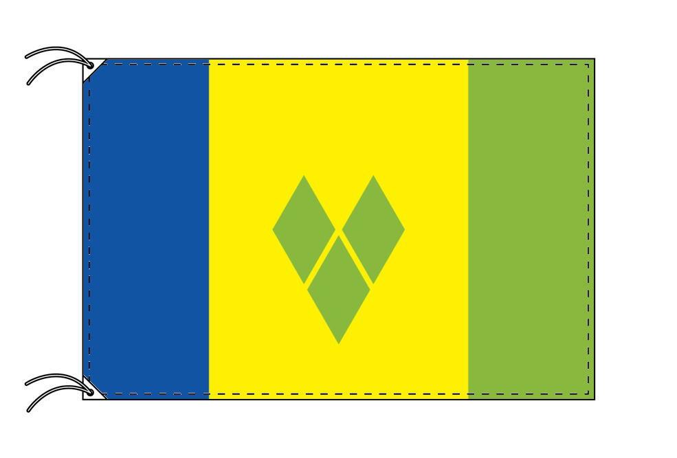 【レンタル】 3泊4日レンタル旗 セントビンセント・グレナデイーン諸島国旗(旗単品)[90×135cm国旗・高級テトロン製]安心の日本製