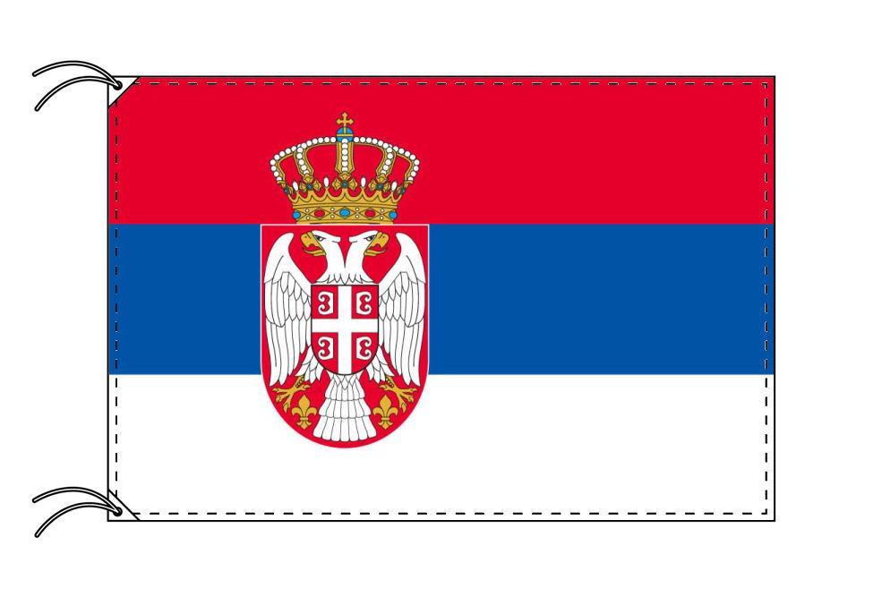 【レンタル】 3泊4日レンタル旗 セルビア国旗・付属品セット[90×135cm国旗・3mポール・扁平玉・スタンド・高級テトロン製]安心の日本製