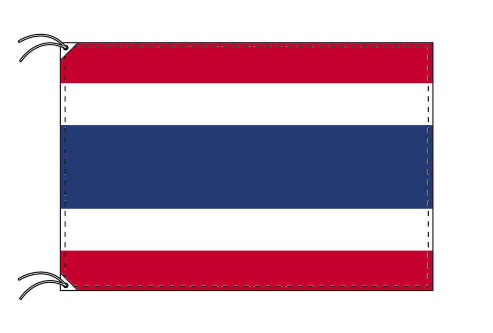 【レンタル】 3泊4日レンタル旗 タイ国旗・付属品セット[90×135cm国旗・3mポール・扁平玉・スタンド・高級テトロン製]安心の日本製